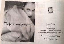 SMASHING PUMPKINS Perfect 1998 UK Press ADVERT 12x8 inches