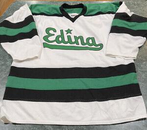 Vintage Bakka Edina Hornets Minnesota High School Hockey Jersey Size XL **RARE**