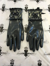 Custom Made SMALL Bordelle Gloves Westward Bound Latex rubber R1573 Black/Trans