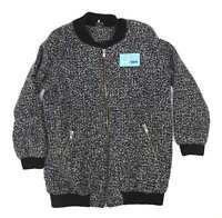 Sparkle & Fade Womens Size L Geometric Grey Jacket