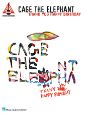 """CAGE THE ELEPHANT """"THANK YOU HAPPY BIRTHDAY"""" GUITAR-TAB MUSIC BOOK NEW ON SALE!!"""