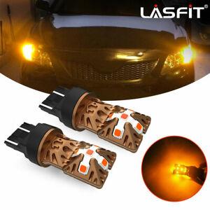 Lasfit LED Rear Turn Signal Light Bulbs 7440 7441 7443 7444 Amber Super Bright
