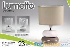 Lampada base ceramica sassi 23cm 652097 gic