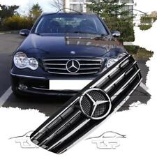 FRONT CHROM-BLACK GRILL FOR MERCEDES CLASS-C W203 S203 AMG LOOK SPOILER 203031