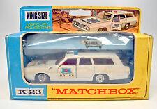 Kingsize k-23a Mercury Police Car blanco en Box