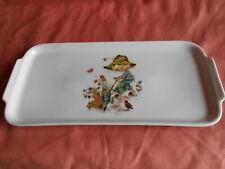 Beau plat à cake bien décoré WINTERLINGE Rösiou BAVARIA en Porcelaine en Excelle