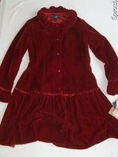 BISCOTTI COLLEZIONI dress NWT NEW sz 7 velour red STUNNING rayon & silk