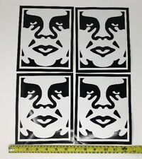 Lot of 4 Large Shepard Fairey Obey Giant Andre Face Icon Poster Sticker Set B&W