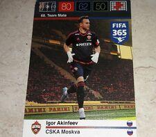 CARD ADRENALYN FIFA 365 CALCIATORI PANINI CSKA AKINFEEV CALCIO