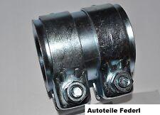 Rohrverbinder/Doppelschelle  Durchmesser 60mm, Länge 90mm  Ford, VW, Audi, ....