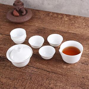 11PCS Ceramic Travel Tea Sets Chinese Style Bone China Teacup Pot Kung Fu