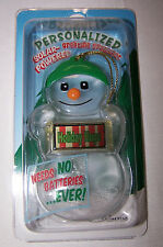 HOLIDAY HUGS Solar Powered Snowman Ornament/Gift Tag NameStar NEW