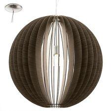 Lampadario in legno a 1 luce marrone moderno D.70 GLO 94637 Cossano
