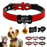 Soft Personalised Dog Collars Engraved Pet Puppy Cat ID Name Collar Tag XXS XS S