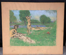 Original painting Pastel by KER XAVIER ROUSSEL (French, 1867-1944)