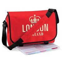 LONDON ENGLAND ENGLAND SOUVENIR MESSENGER LAPTOP TOTE PRINTED BAG 19 COLOURS