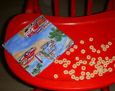 Reusable Snack Sandwich Food Storage Bag Small Objects Pouch Ocean Beach Cars