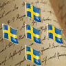 5P Euro Collectible Metal Plated Gold Badge Swedish Enamel Flag Brooch Lapel Pin