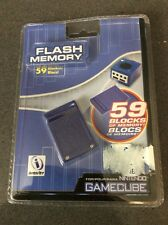New Sealed Nintendo GameCube Flash Memory 59 Blocks By Interact White WII