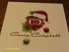 Craig Campbell Signed Christmas Card