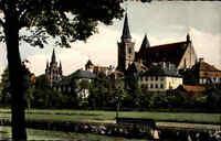 Ansbach Bayern 1963 Mittelfranken Gumbertuskirche Johanniskirche Kirche Park