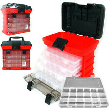 Stalwart 73-Compartment Durable Plastic Storage Shop / Home Tool Box