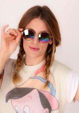 oversized multi coloured round hexagonal mirrored John Lennon Sunglasses