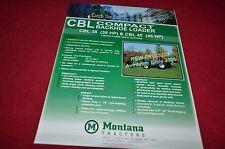 Montana Tractor 38 45 Compact Backhoe Loader Dealer's Brochure YABE12