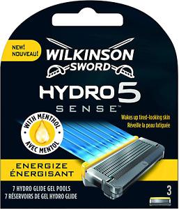 Wilkinson Sword Hydro 5 Sense Energize Razor Blades Men's - Pack of 3