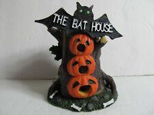 "Spooky Halloween ""The Bat House"" Bats & Pumpkins Figurine Table Decoration"