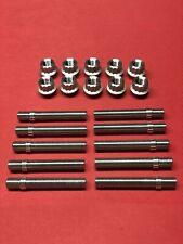 BMW 80mm 5Lug Wheel Stud Conversion Kit W/ 12pt Lug Nuts Titanium Set Of 10
