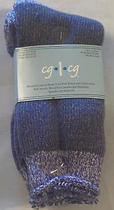 Women's Socks Brushed Acrylic Orlon Polar Warm Socks Crew Length 9-11 Purple gra