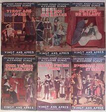 GRANDS ROMANS HISTORIQUES ALEXANDRE DUMAS 6/6 D'ARTAGNAN MILADY LES HALLES 6/6