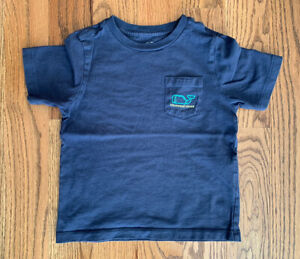 Vineyard Vines Whale Short Sleeves T- Shirt Boy's Size 4 Navy Blue