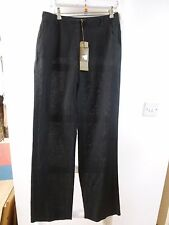 BNWT Pure Collection black straight leg sheer trousers size 10L