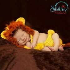 UK Baby Lion King Simba Photoshoot Costume Hand made Crochet Photo Prop Outfit