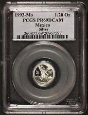 1993-Mo Mexico 1/20 Onza Oz Proof Silver Libertad Coin - PCGS PR 69 DCAM