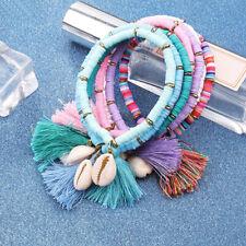 Women Multicolor Shell Tassel Bracelet Chain Fashion Handmade Bracelet Jewelry