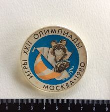 Pin Moscow Olympic Games 1980 Mishka Russia Badge Vintage