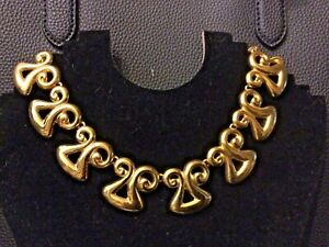 Vintage 1980s High End Cleopatra Egyptian Collar Statement Necklace Gorgeous