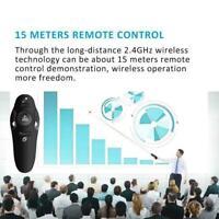 Wireless Presenter 2.4GHz PPT Pen Powerpoint Clicker Remote New New Control U1J6