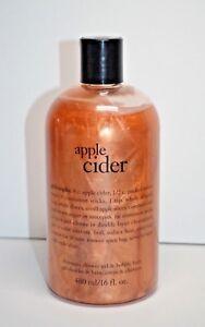 Philosophy APPLE CIDER Shampoo, Shower Gel & Bubble Bath 480 mL / 16 fl oz New