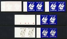 NORWAY . 1981 Christmas Seal - 7 progressive proof pairs - Mint Never Hinged