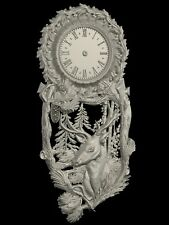 STL 3D model CLOCK-DEER for CNC Aspire Artcam 3D Printer 3D MAX