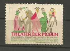Germany/Berlin Theater Der Moden Exhibition poster stamp/label