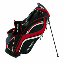 Ben Sayers Dlx Stand Bag 8.5-Inch Black / Red