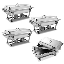 Restaurant Buffet Trays Set - Stainless Steel Chafer Dish Wedding Party Catering