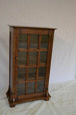 Crafters and Weavers Arts and Crafts Mission Oak Bookcase with One Door