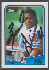Autographed 1988 Topps Ernest Givins - Oilers
