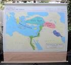 Vintage Rand McNally School Roll Down Map Near East Greece 1400 BC